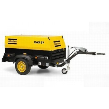 Motocompresor aer Atlas Copco XAS67Dd, 3.7 mc/min